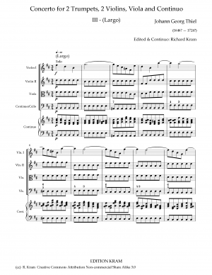 Concerto for 2 Trumpets in D major