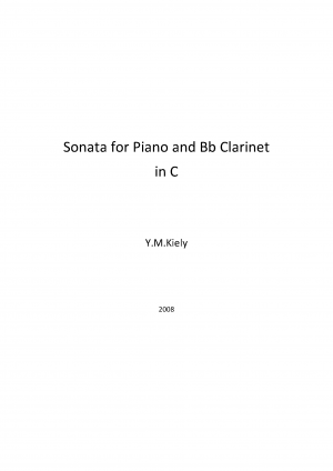 Sonata for Piano and B♭ Clarinet in C