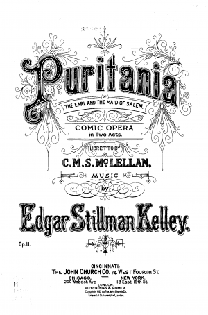 Puritania, or The Earl and the Maid of Salem