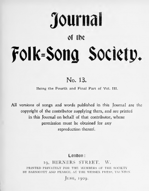 Journal of the Folk-Song Society