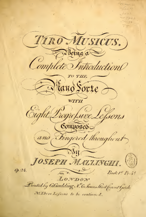 Tiro Musicus, A Complete Introduction to the Piano Forte, Op.24