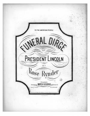 President Lincoln's Funeral Dirge