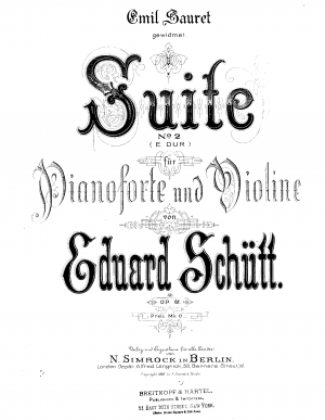Suite No.2 for Piano and Violin