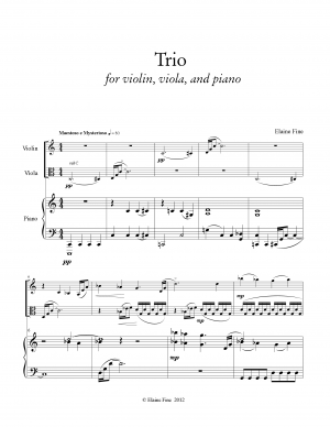 Trio for Violin, Viola, and Piano
