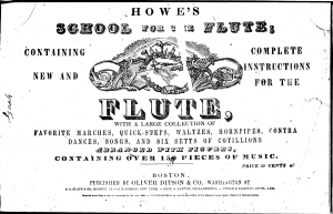 Howe's School for the Flute