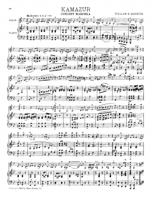 Two Compositions for Violin and Piano