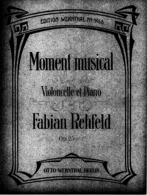 Moment Musical for Cello and Piano