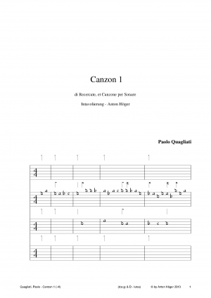 Canzon 1