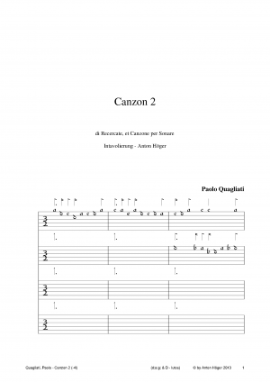 Canzon 2