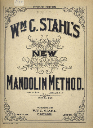 William C. Stahl's New Mandolin Method