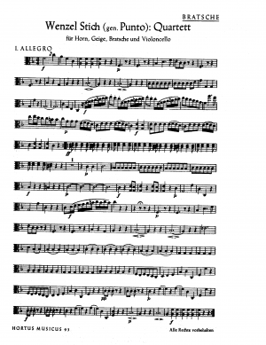 6 Quartets for Horn and Strings, Op.2