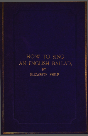 How to Sing an English Ballad