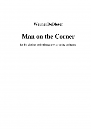 Man on the Corner for Clarinet Quintet