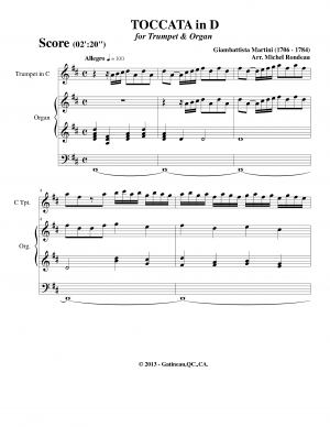 Toccata in D major