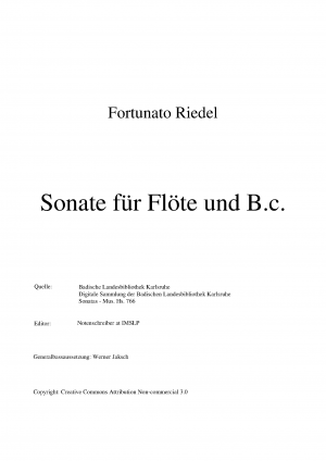 Flute Sonata in G major