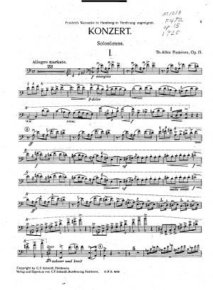 Double Bass Concerto No.1