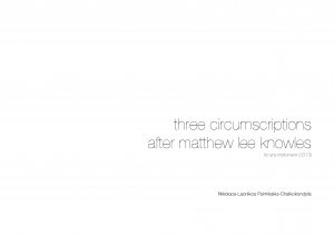 Three Circumscriptions after Matthew Lee Knowles
