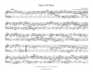 Gigue in B minor