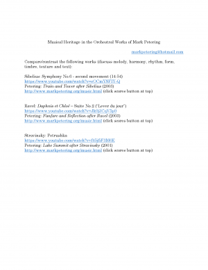 Musical Heritage in the Orchestral Works of Mark Petering