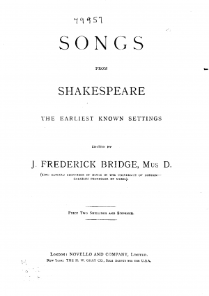 Songs from Shakespeare