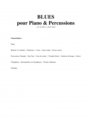 Blues for Piano and Percussion