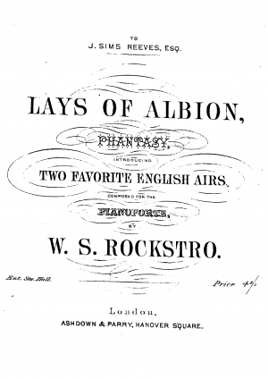 Lays of Albion, Phantasy, introducing two favorite English airs
