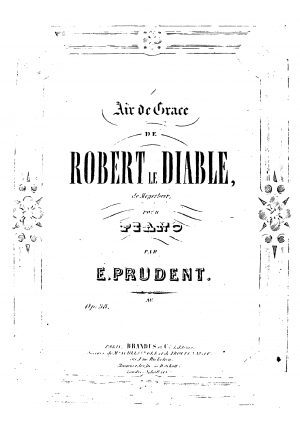 l'Air de Grace de 'Robert le Diable'