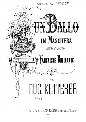 Fantaisie brillante sur 'Un ballo in maschera'