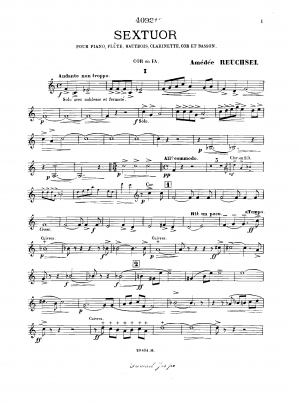 Sextet for Piano and Winds