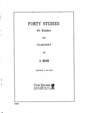 40 Studies for Clarinet Solo