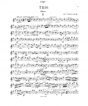 Trio for Piano, Oboe and Viola
