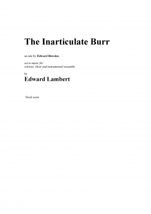 The Inarticulate Burr