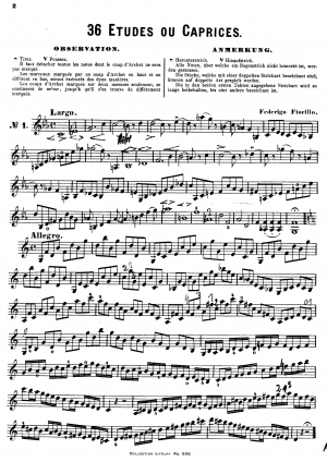36 Caprices for Violin