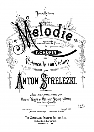 Melody on an Etude by Chopin