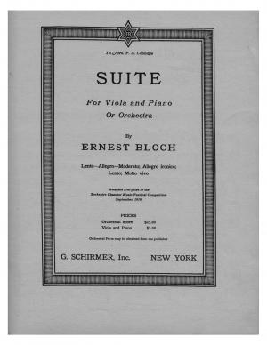 Suite for Viola and Piano or Orchestra