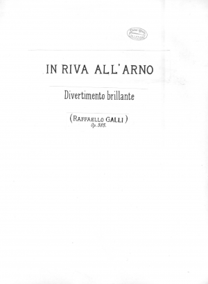Divertimento Brillante 'In Riva all'Arno'