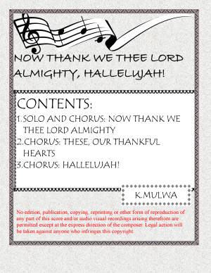 Now Thank We Thee Lord, Hallelujah!