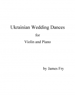 Ukrainian Wedding Dances