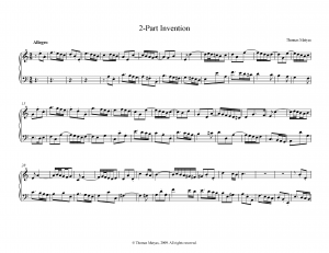 Two-part Invention in A minor