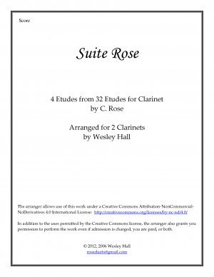 Thirty-Two Etudes for Clarinet