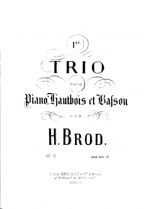 Trio No.1 for Piano, Oboe and Bassoon, Op.5