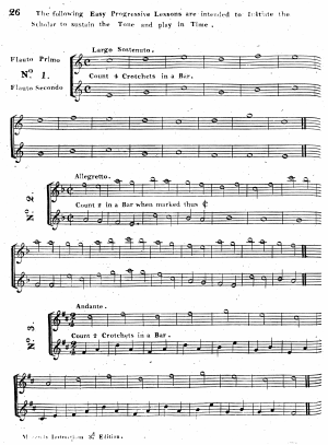 Instructions For The German Flute