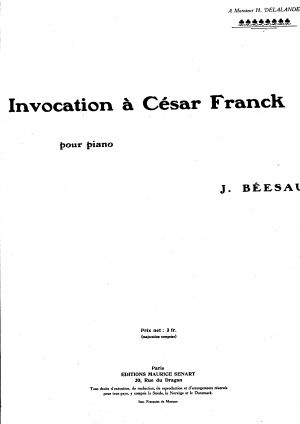 Invocation à César Franck