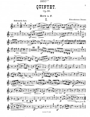 Quintet for Piano and Winds, Op.38