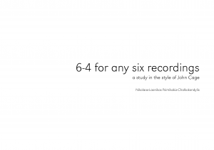 6-4 for any six recordings and sequencer