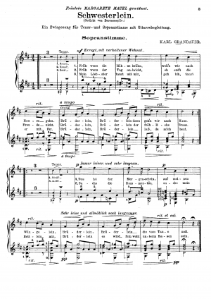 A double-song for tenor and soprano