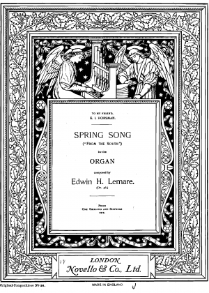 Spring song 'From the South', Op.56