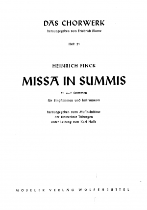 Missa in Summis