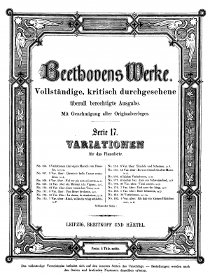 Nine variations for piano on a march by Ernst Christoph Dressler, WoO 63