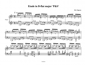 Etude in B-flat major